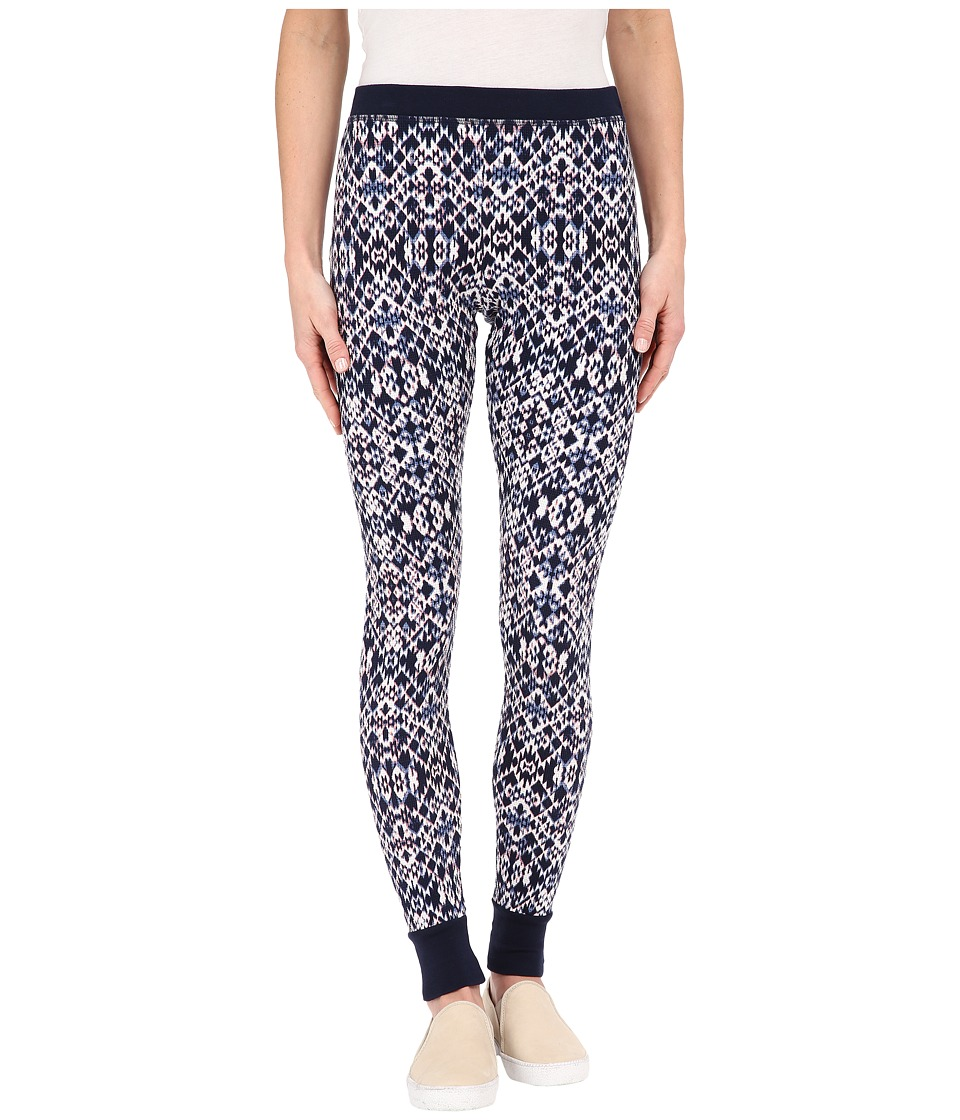 Splendid - Ikat Print Thermal Leggings (Navy Multi) Women's Casual Pants