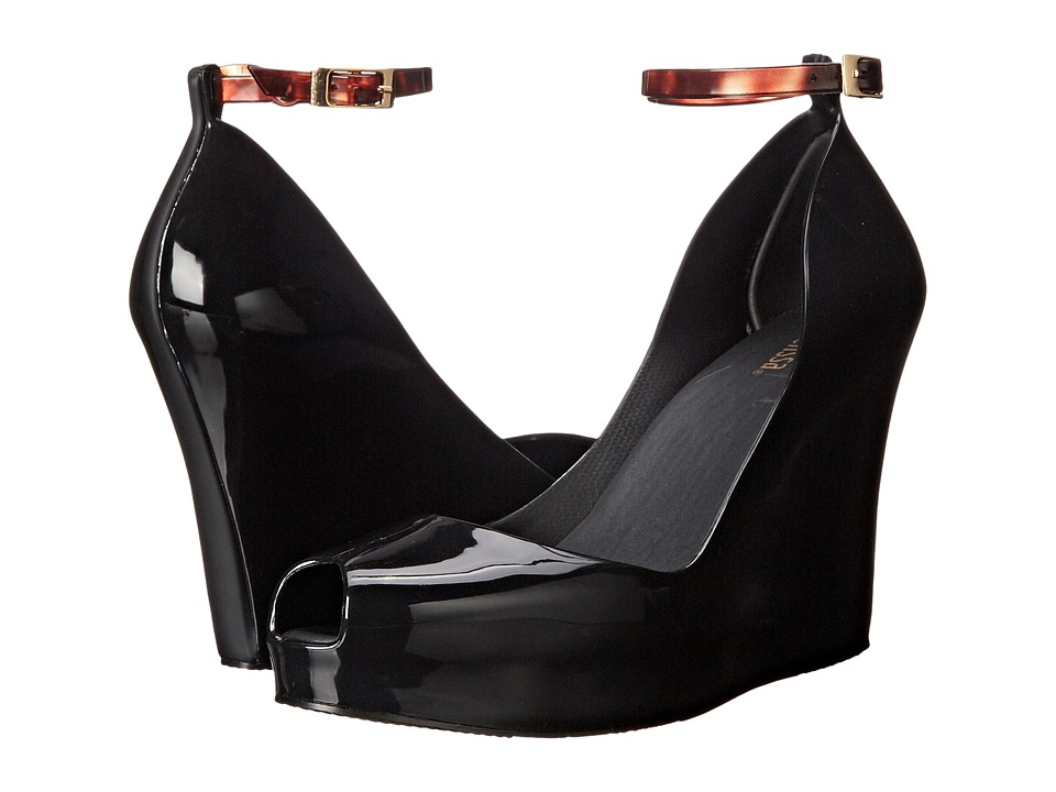 Melissa Shoes - Patchuli X (Black) Women's Wedge Shoes