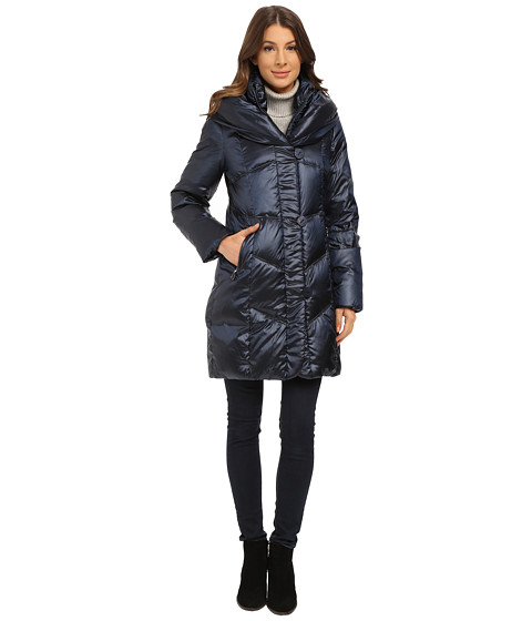 T Tahari - Gia Pillow Collar Down (Midnight Dreams) Women's Coat