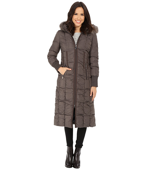 T Tahari - Elizabeth Long Maxi Down (Horizon) Women's Coat