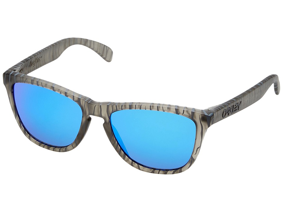 Oakley - Frogskins (Matte Grey Ink Urban Jungle/Sapphire Iridium) Sport Sunglasses