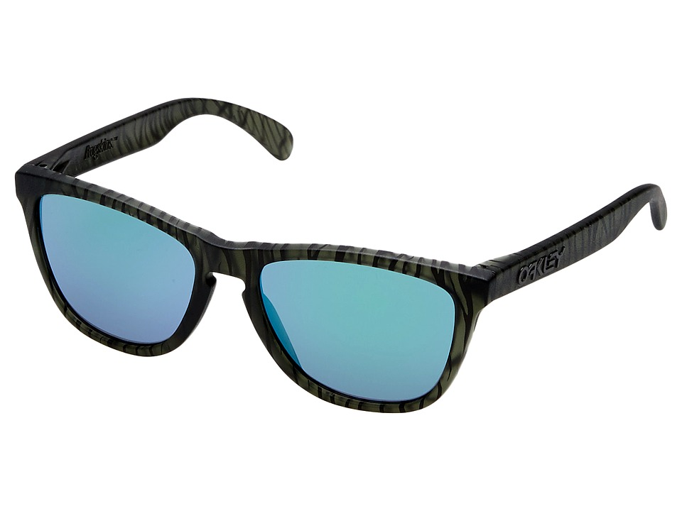 Oakley - Frogskins (Matte Olive Ink Urban Jungle/Jade Iridium) Sport Sunglasses