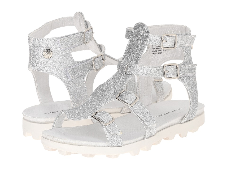 Stuart Weitzman Kids - Gianna Gladiator (Little Kid/Big Kid) (Silver Glitter) Girl's Shoes