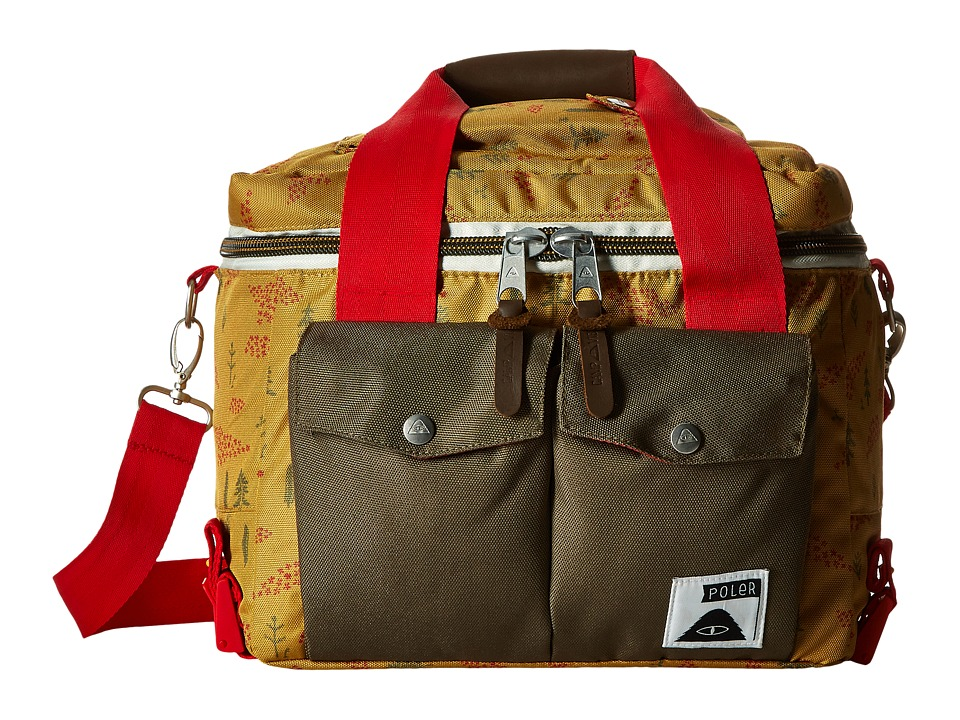 Poler - Mega Camera Cooler Bag (Almond Forestry Print) Bags