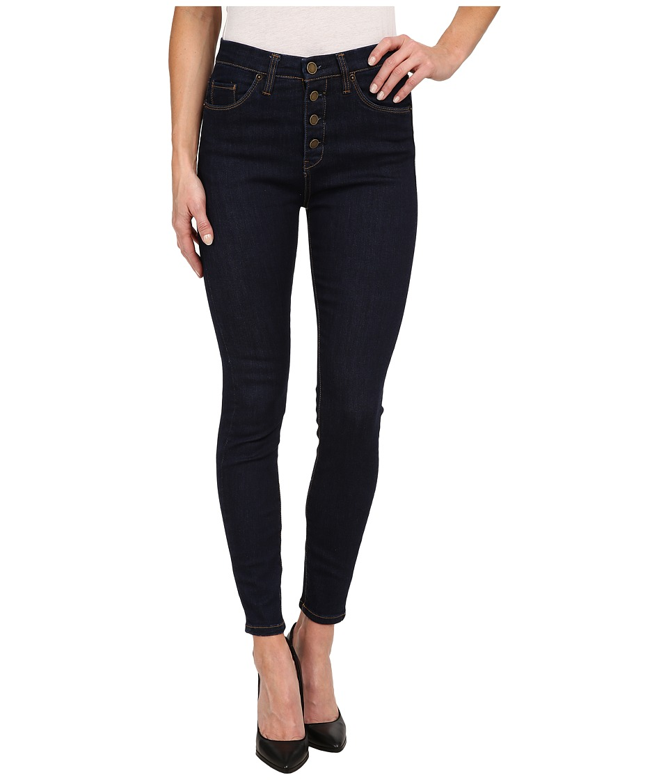 Blank NYC - High Rise with Buttons Skinny in Denim Blue (Denim Blue) Women's Jeans
