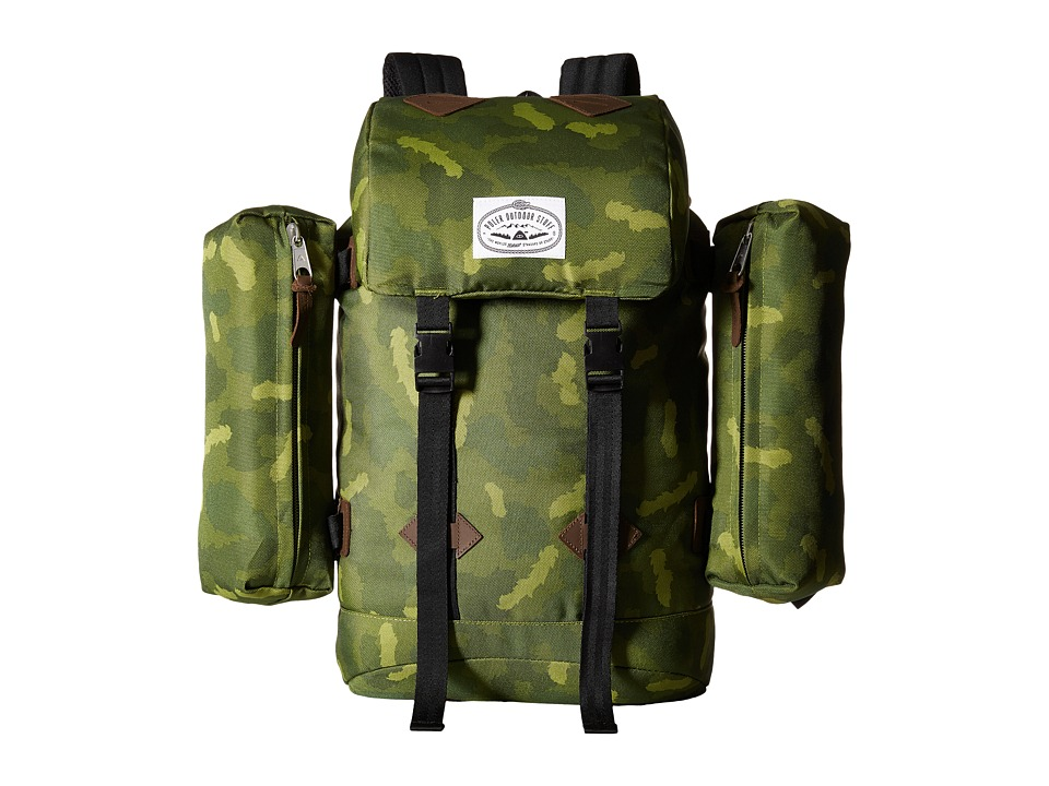 Poler - Retro Rucksack (Green Camo) Backpack Bags