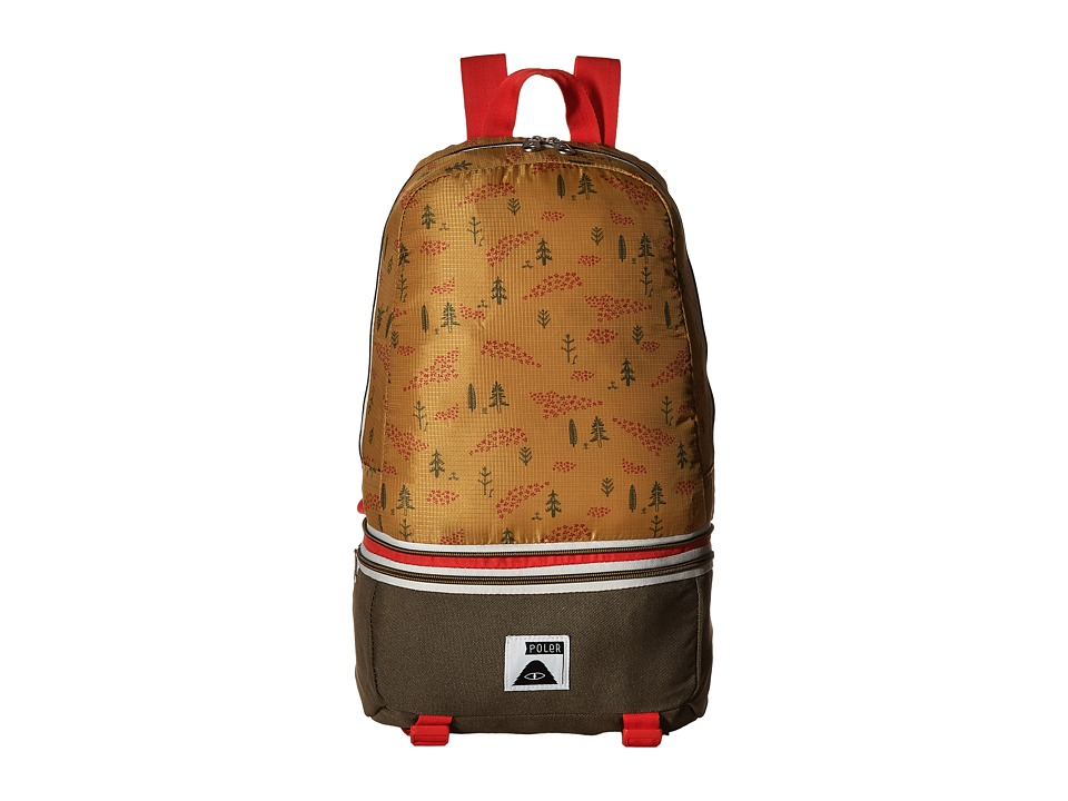 Poler - Tourist Pack (Almond Forestry Print) Backpack Bags
