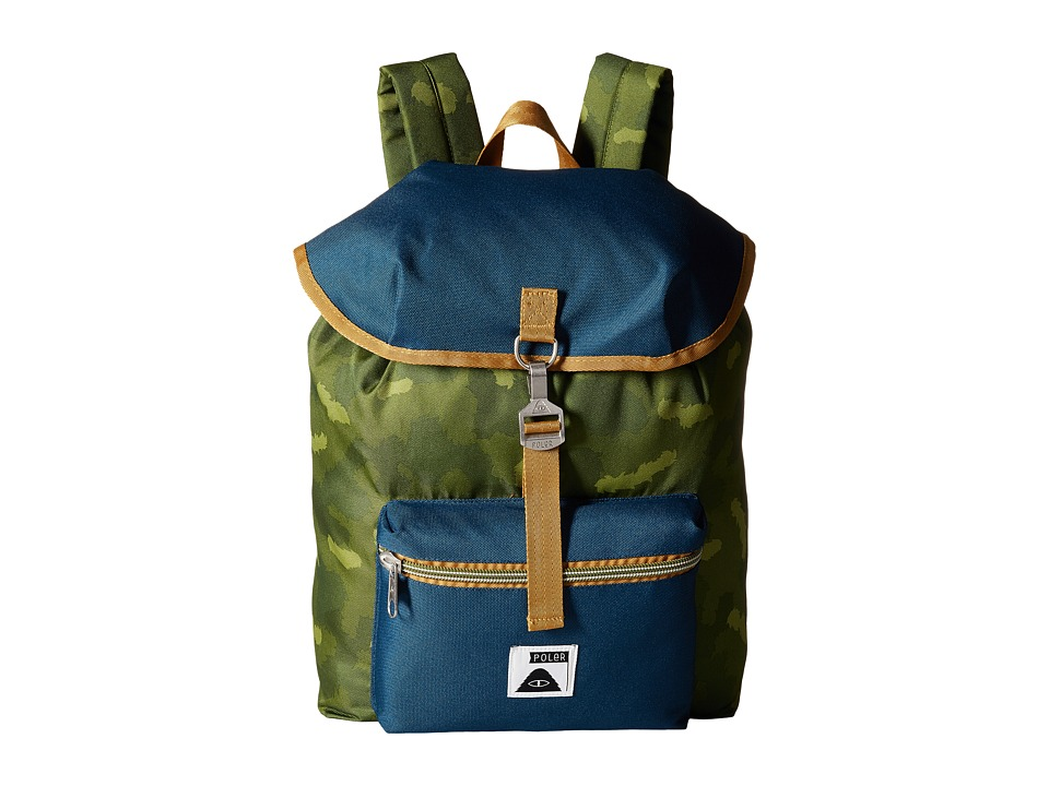 Poler - Field Pack Backpack (Green Camo) Backpack Bags