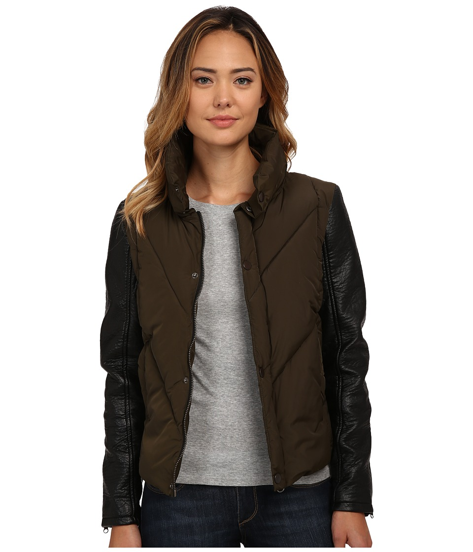 Blank NYC - Vegan Leather Jacket (Army Green/Black) Women's Jacket