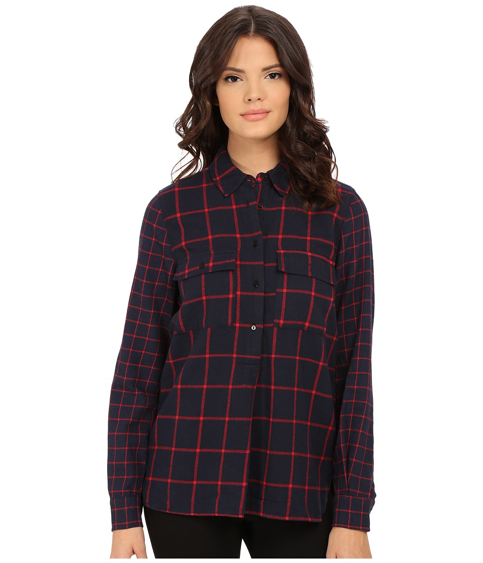 Blank NYC - Plaid Shirt (Red/Navy Blue) Women's Clothing