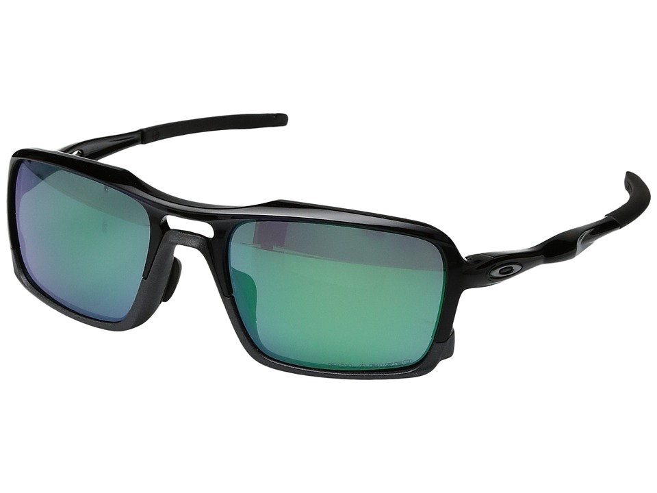 Oakley - (A) Triggerman (Polished Black/Jade Iridium Polarized) Snow Goggles