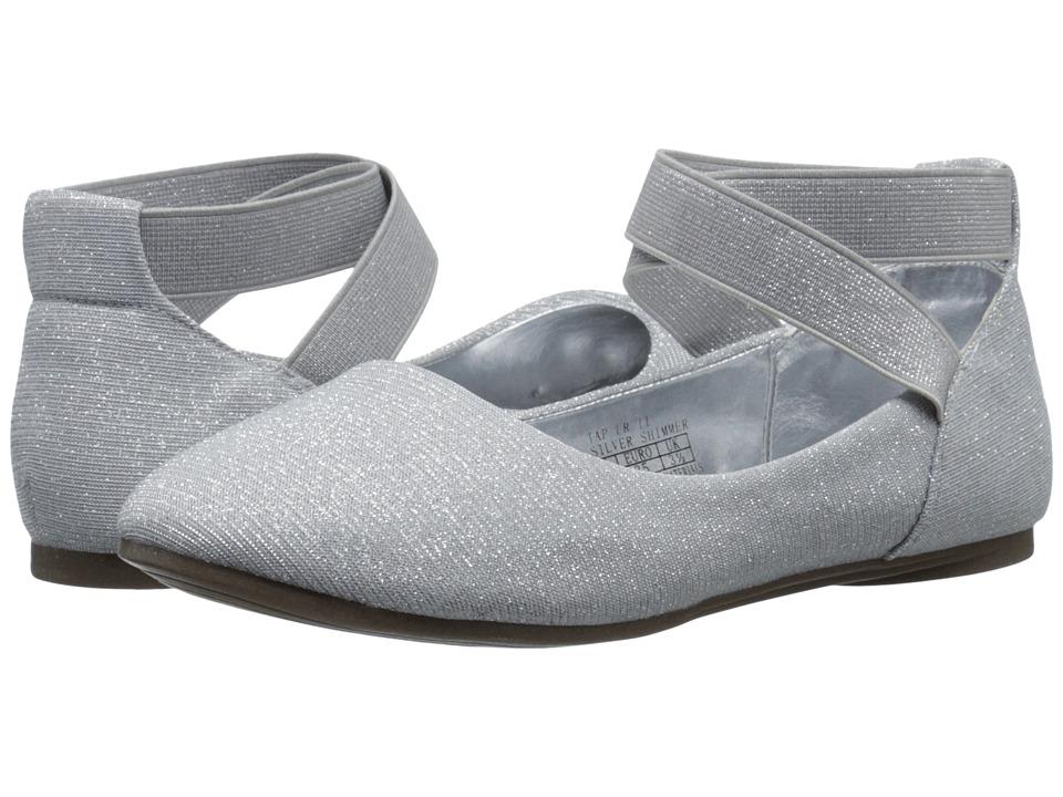 Kenneth Cole Reaction Kids - Tap UR It (Little Kid/Big Kid) (Silver Shimmer) Girls Shoes