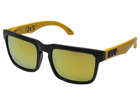 Spy Optic - Helm (Matte Black/Yellow Temples/Bronze/Gold Mirror) Sport Sunglasses
