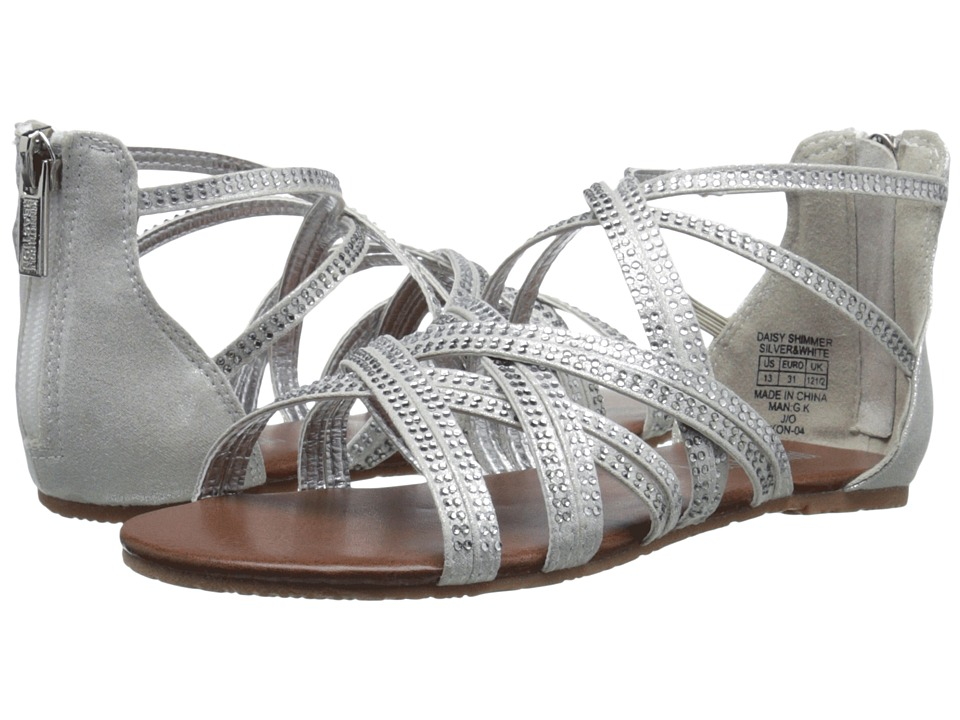 Kenneth Cole Reaction Kids - Daisy Shimmer (Little Kid/Big Kid) (Silver/White) Girls Shoes