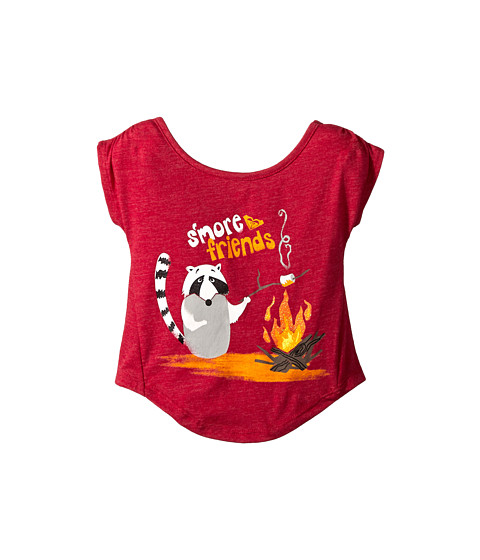 Roxy Kids - S'more Friends Tee (Infant) (Cerise) Girl's T Shirt