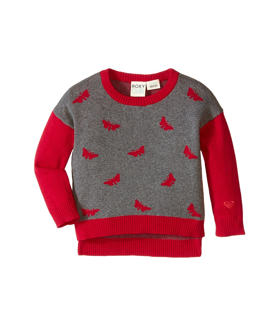 Roxy Kids - Butterfly Kisses Sweater (Infant) (Heritage Heather) Girl's Sweater
