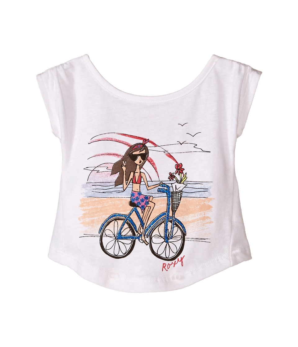 Roxy Kids - Wheelie Tee (Infant) (White) Girl's T Shirt