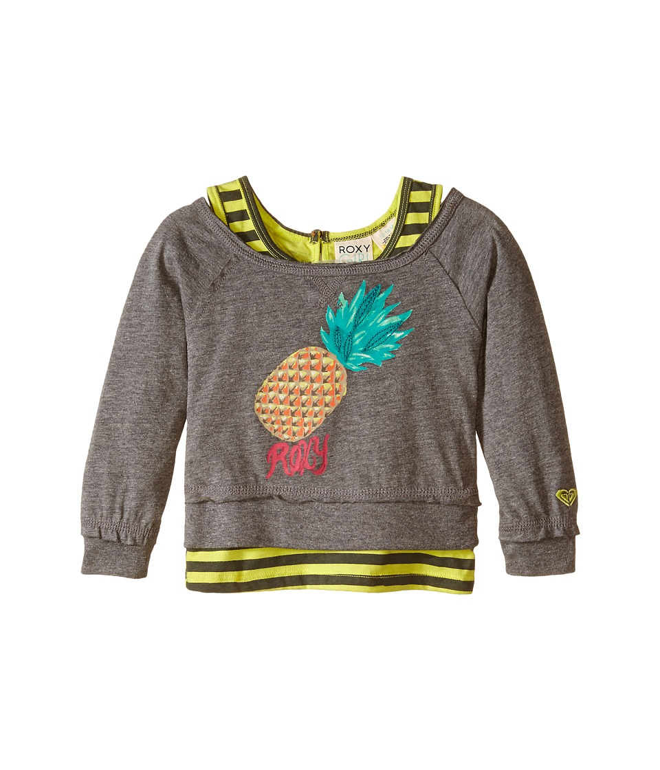 Roxy Kids - Cool Pineapple Tee (Infant) (Heritage Heather) Girl