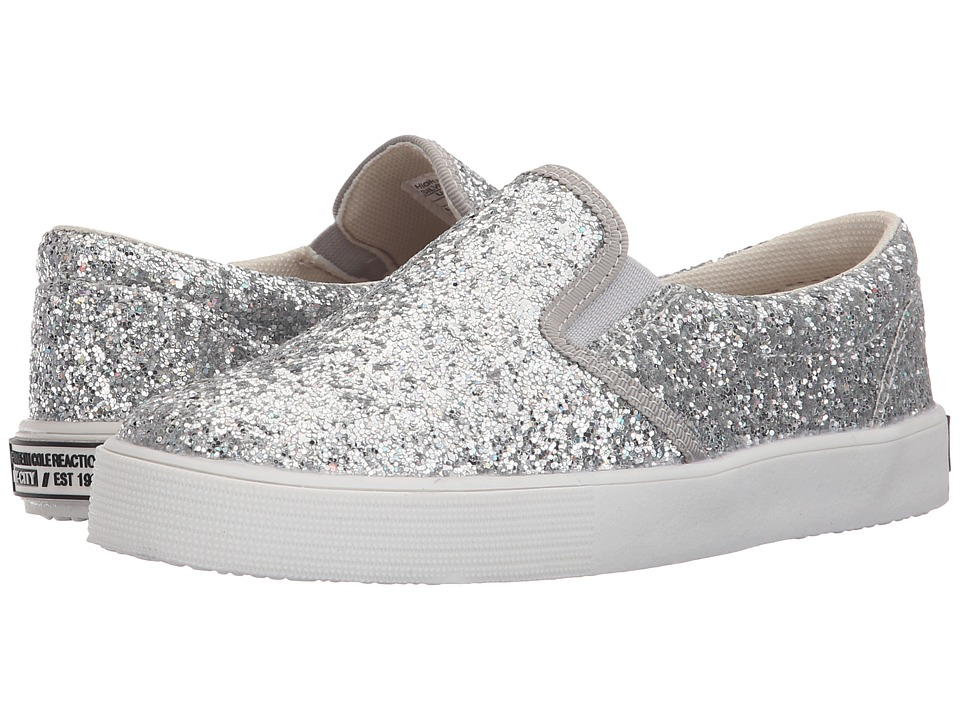 Kenneth Cole Reaction Kids - High Line (Little Kid/Big Kid) (Silver Glitter) Girls Shoes