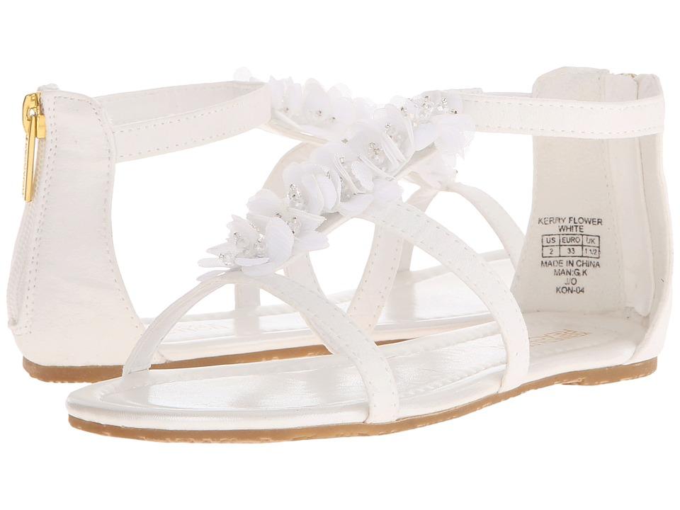 Kenneth Cole Reaction Kids - Kerry Flower (Little Kid/Big Kid) (White) Girls Shoes