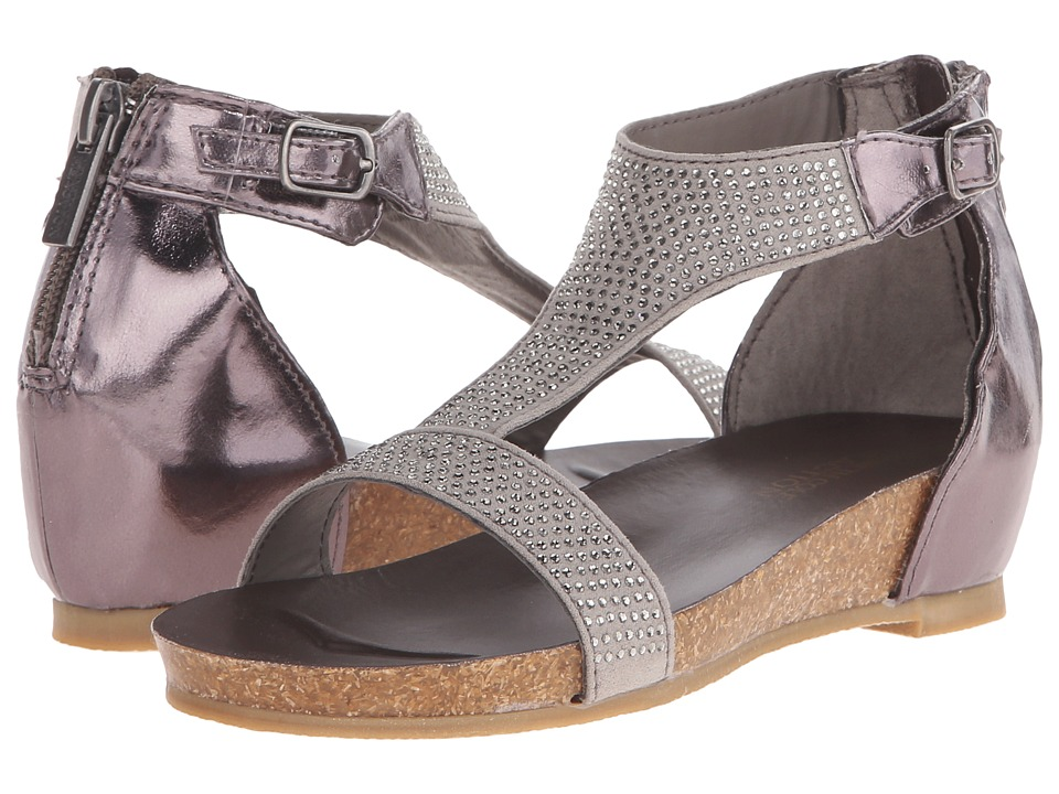 Kenneth Cole Reaction Kids - Lexi Wedge (Little Kid/Big Kid) (Pewter) Girls Shoes