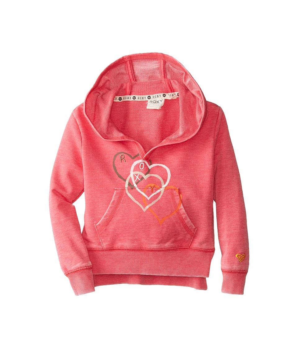 Roxy Kids - Falling Heart Hoodie (Toddler/Little Kids) (Azalea) Girl's Sweatshirt