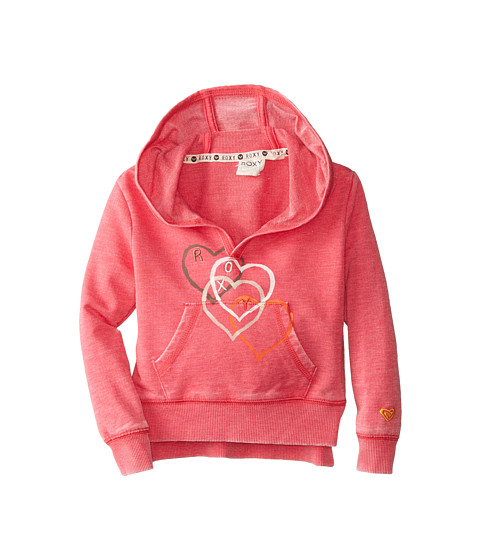 Roxy Kids - Falling Heart Hoodie (Toddler/Little Kids) (Azalea) Girl