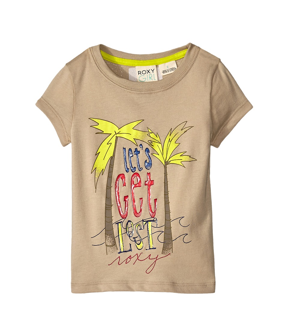 Roxy Kids - Let's Get Lost Tee (Toddler/Little Kids) (Oxford Tan) Girl's T Shirt