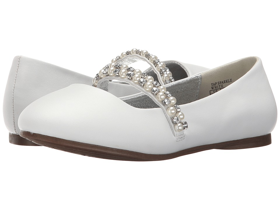 Kenneth Cole Reaction Kids - Tap Sparkle (Little Kid/Big Kid) (White) Girls Shoes