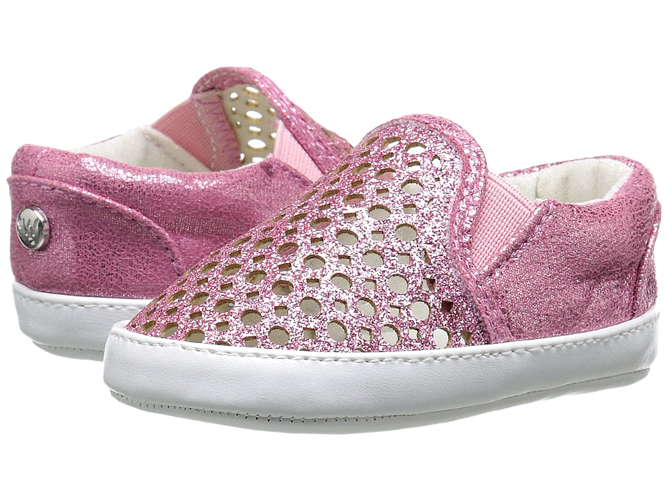Stuart Weitzman Kids - Baby Vance Slider (Infant/Toddler) (Pink Glitter) Girl's Shoes