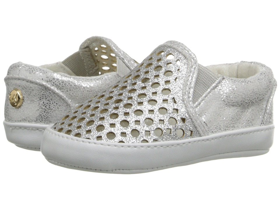 Stuart Weitzman Kids - Baby Vance Slider (Infant/Toddler) (Silver Glitter) Girl's Shoes