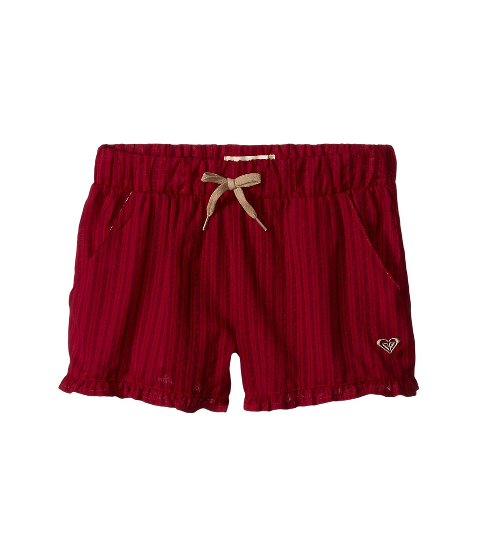 Roxy Kids - Ruffled Up Shorts (Big Kids) (Cerise) Girl's Shorts