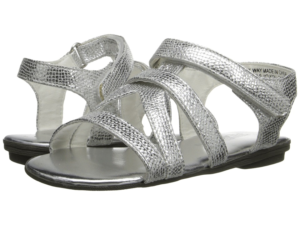 Kenneth Cole Reaction Kids - Brightway 2 (Toddler/Little Kid) (Silver Metallic) Girls Shoes