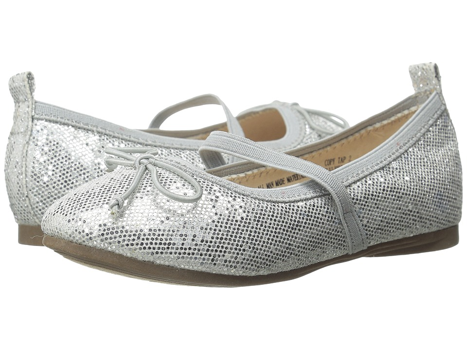Kenneth Cole Reaction Kids - Copy Tap 2 (Toddler/Little Kid) (Silver Shimmer) Girls Shoes