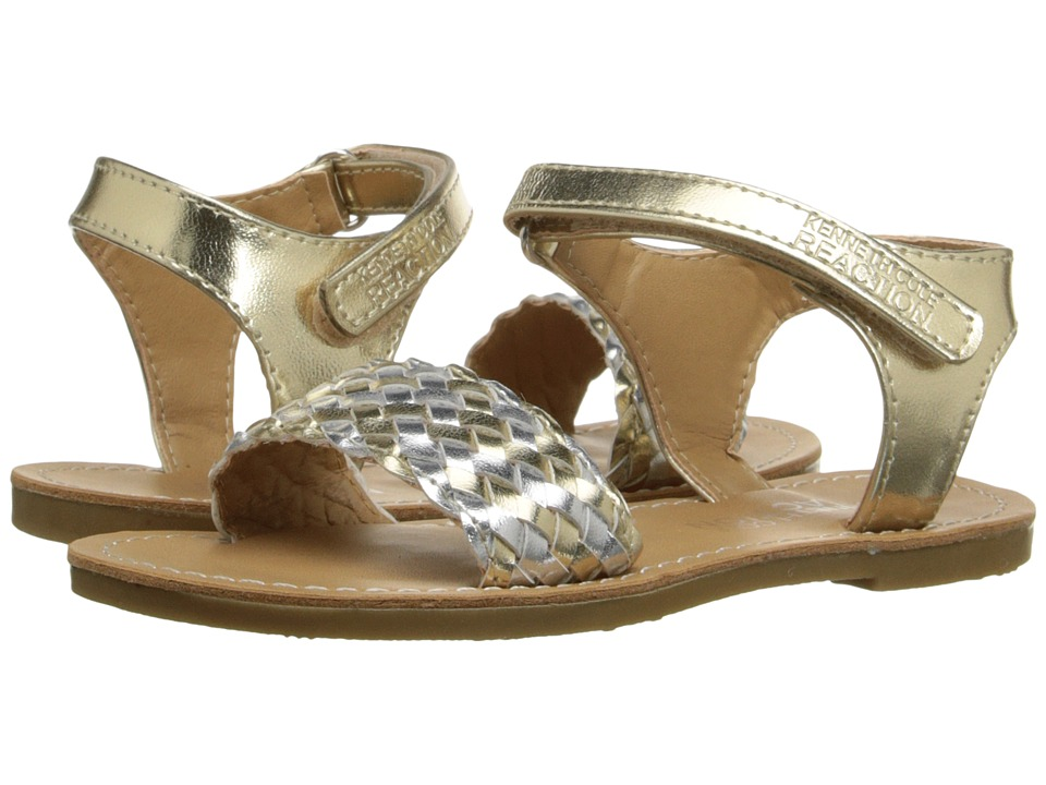 Kenneth Cole Reaction Kids - Groovy Woven (Toddler/Little Kid) (Gold) Girls Shoes
