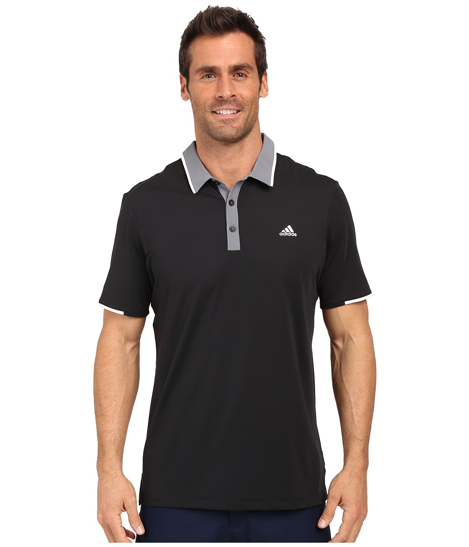 adidas Golf - CLIMACOOL Branded Performance Polo (Black/Vista Grey) Men's Short Sleeve Pullover