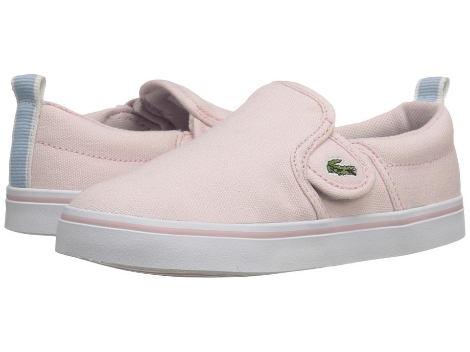 Lacoste Kids Gazon 116 1 SP16 (Toddler/Little Kid) (Light Pink) Girl