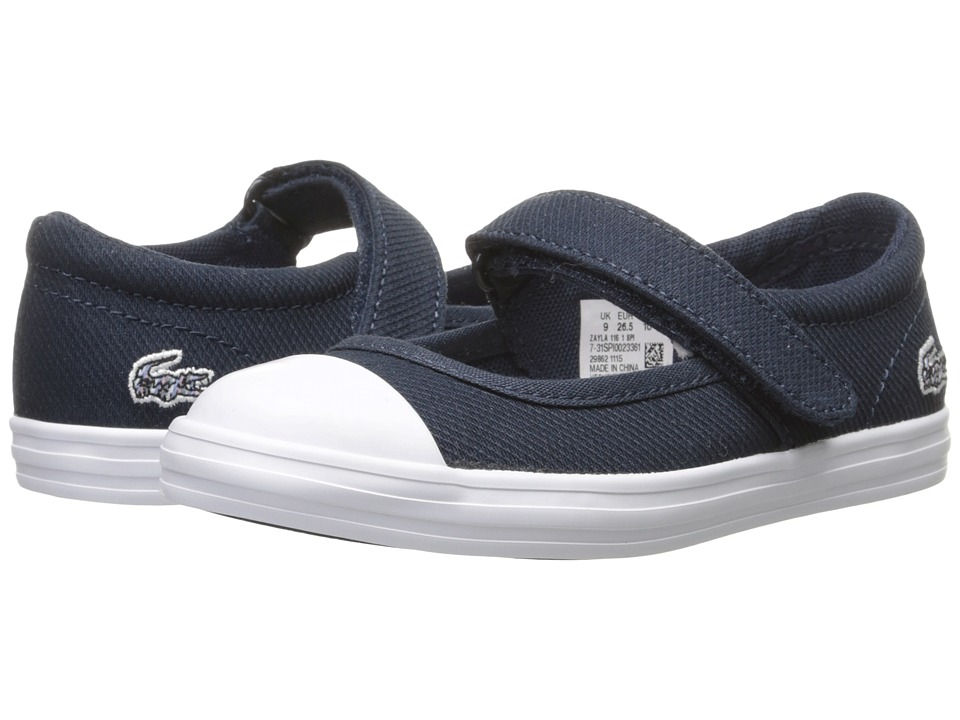 Lacoste Kids - Zayla 116 1 SP16 (Toddler/Little Kid) (Navy/Light Pink) Girl's Shoes