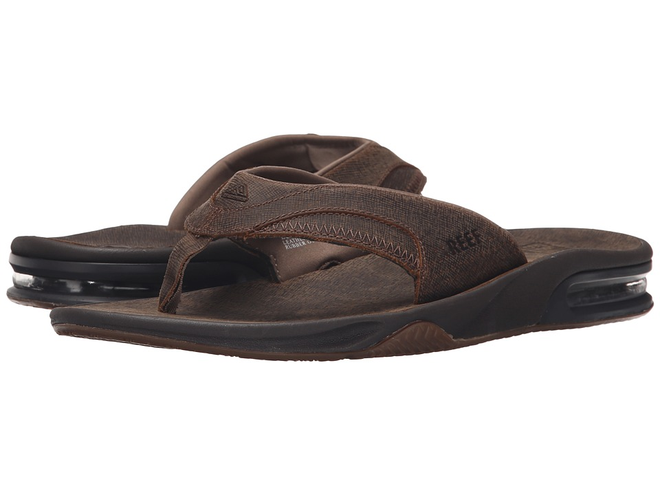Reef - Fanning Ultimate (Brown/Dark Brown 2) Men's Sandals