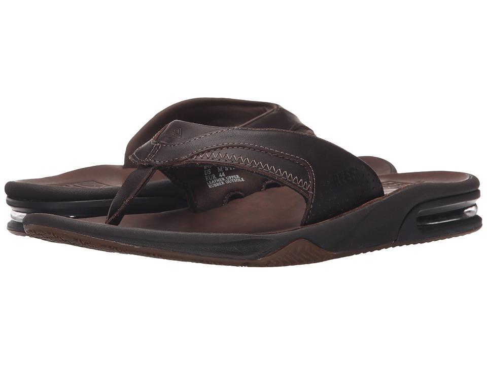 Reef - Fanning Ultimate (Dark Brown) Men's Sandals