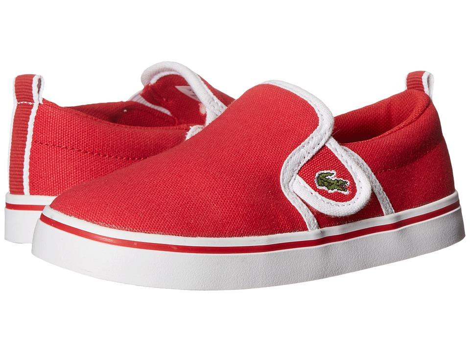 Lacoste Kids Gazon 116 1 SP16 (Toddler/Little Kid) (Red) Kid