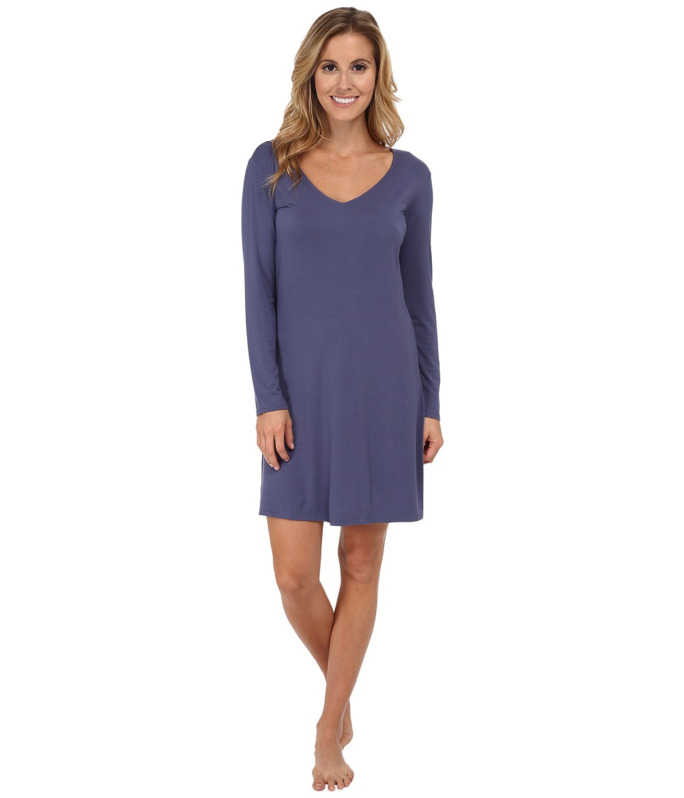 Natori - Feathers Sleepshirt (Sailor Blue) Women's Pajama