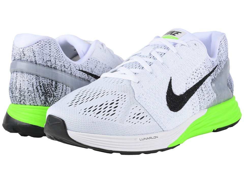 Nike - Lunarglide 7 (White/Electric Green/Black) Men's Running Shoes