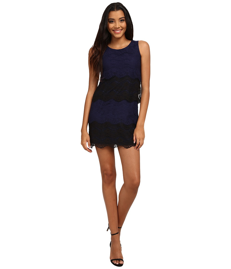 Jessica Simpson - Scallop Lace Tier Dress (Blue) Women's Dress