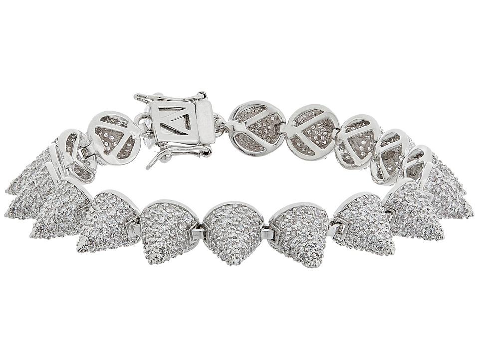 Eddie Borgo - Pave Small 17 Cone Bracelet (Silver) Bracelet