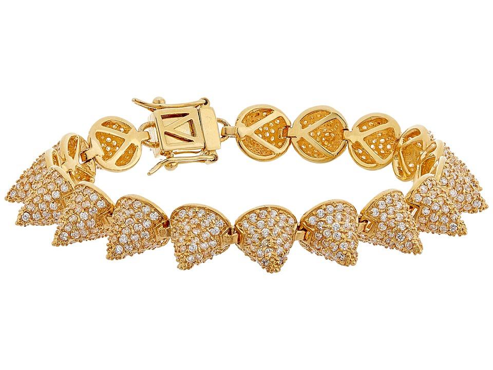 Eddie Borgo - Pave Small 17 Cone Bracelet (Gold) Bracelet