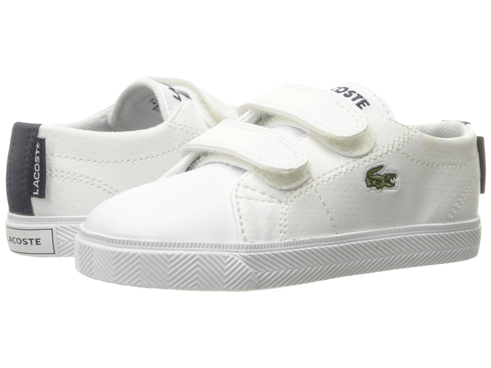 Lacoste Kids - Marcel Hook-and-Loop 116 3 SP16 (Toddler/Little Kid) (White/Navy) Kids Shoes