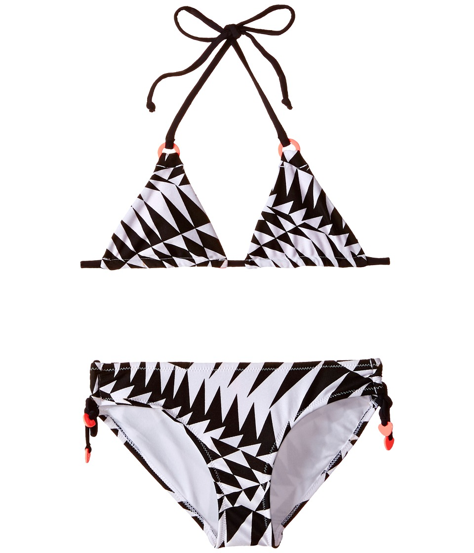 Seafolly Kids - Pool Party Slide Triangle Bikini (Little Kids/Big Kids) (Black/White) Girl's Swimwear