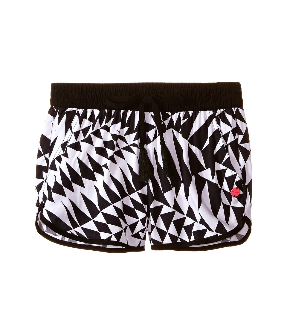 Seafolly Kids - Round Off Shorts (Big Kids) (Black) Girl's Swimwear