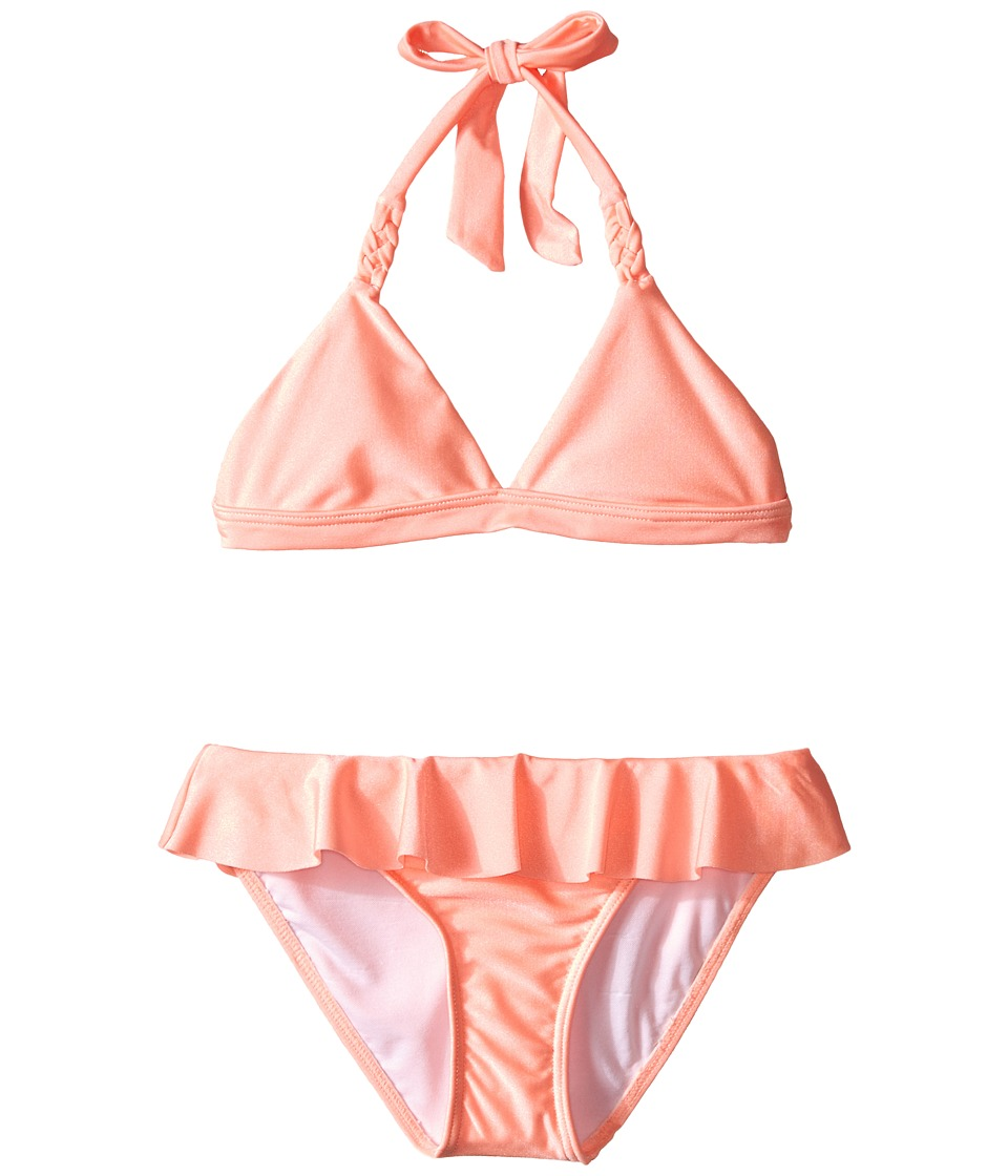 Seafolly Kids - Pool Party Triangle Bikini (Little Kids/Big Kids) (FluroMelon) Girl's Swimwear Sets